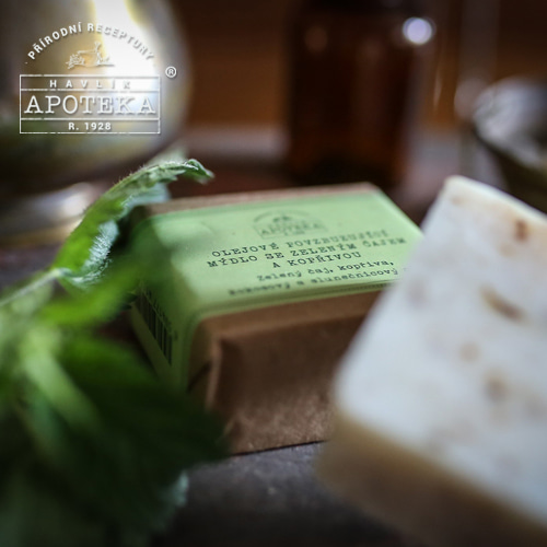Havlik Apoteka, 녹차와 쐐기풀 비누_85g / Green tea soap with nettle and oils