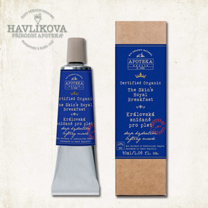Havlik Apoteka, 여왕의 3분 마스크_50ml / Certified Organic The Skin's Royal Breakfast